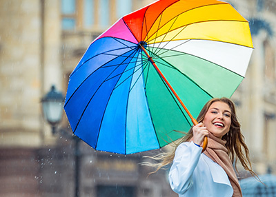 colorful mood umbrella