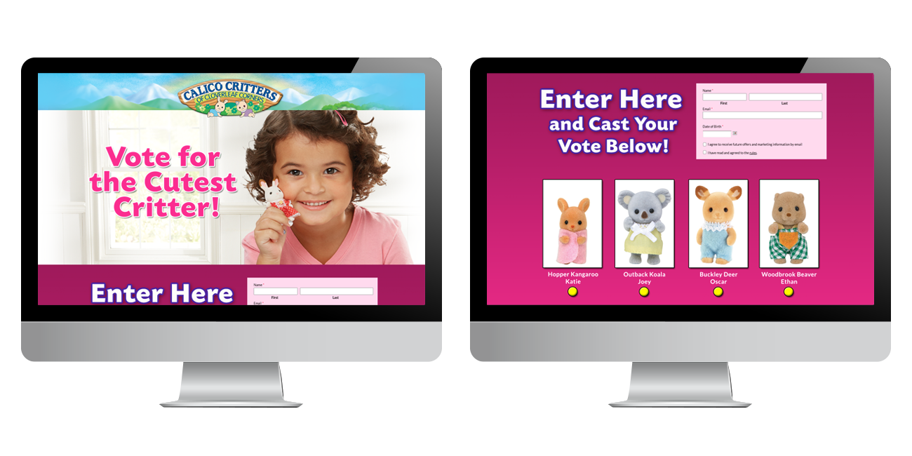 Calico Critters vote for cutest critter campaign